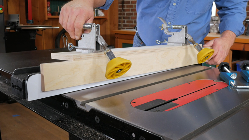 "The rollers simply mount on top of the table saw rip fence. You easily mount them by creating an L- shaped or U-shaped axillary fence made from ¾"" plywood."