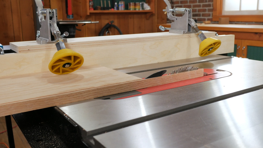 The rollers roll easily so feeding the workpiece through the table saw blade is smooth, easy and most importantly, safe!