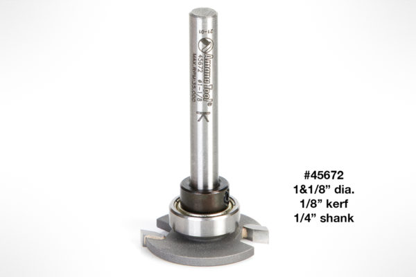 "Amana Flooring Straight Dedicated Cutter 1-1/8"" Dia x 1/8"" Kerf x 1/4"" Shank 45672"
