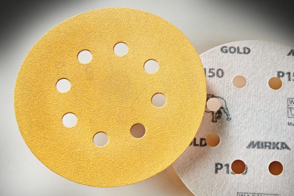 "Mirka Gold 5"" Sandpaper Discs 150-Grit, Hook & Loop 01"