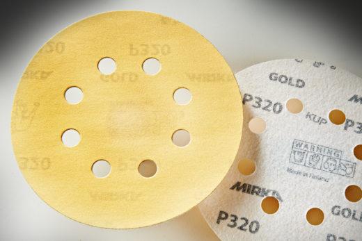 "Mirka Gold 5"" Sandpaper Discs, 320-Grit, Hook & Loop 01"