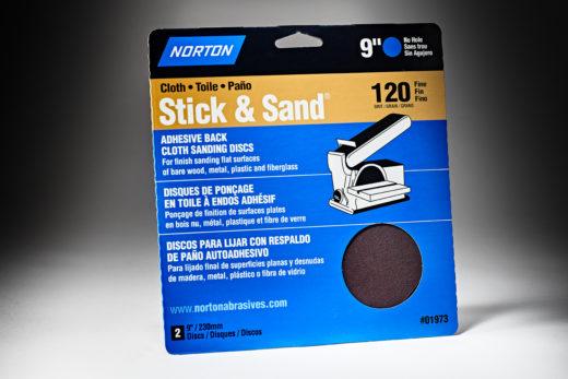 Norton Stick & Sand 9 120 Grit Cloth PSA Disc 7660701973-1