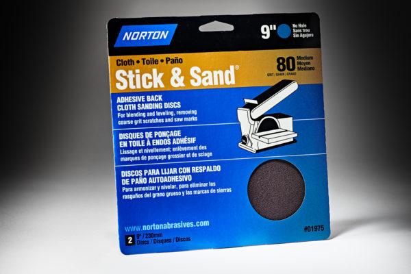 Norton Stick & Sand 9 80 Grit Cloth PSA Disc 7660701975-1
