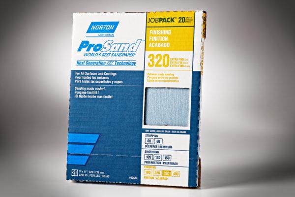 """Norton 3X ProSand 9"""" x 11"""" Sanding Sheets, 320-Grit 01"""