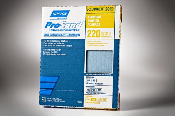 """Norton 3X ProSand 9"""" x 11"""" Sanding Sheets, 220-Grit 01"""