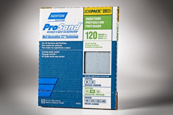 """Norton 3X ProSand 9"""" x 11"""" Sanding Sheets, 120-Grit"""
