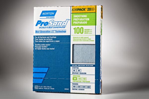 """Norton 3X ProSand 9"""" x 11"""" Sanding Sheets, 100-Grit 01"""