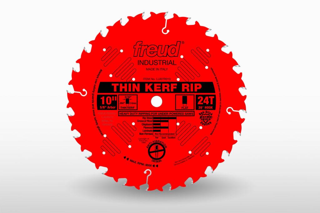 "Freud 10"" 24-Tooth Industrial Rip Blade-Thin Kerf"