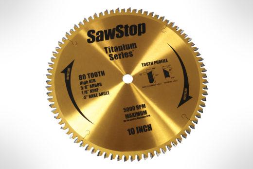 SawStop-BTS-P-HATB 80T Titanium Series Premium Woodworking Blade