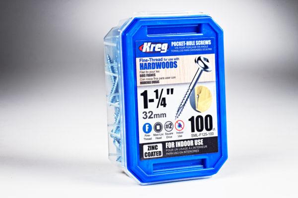 "Kreg #7 x 1-1/4"" Pocket-Hole Screws, Fine-Thread, 100 ct."