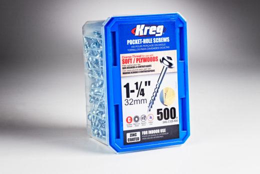 "Kreg #8 x 1-1/4"" Pocket-Hole Screws, Coarse-Thread 01"