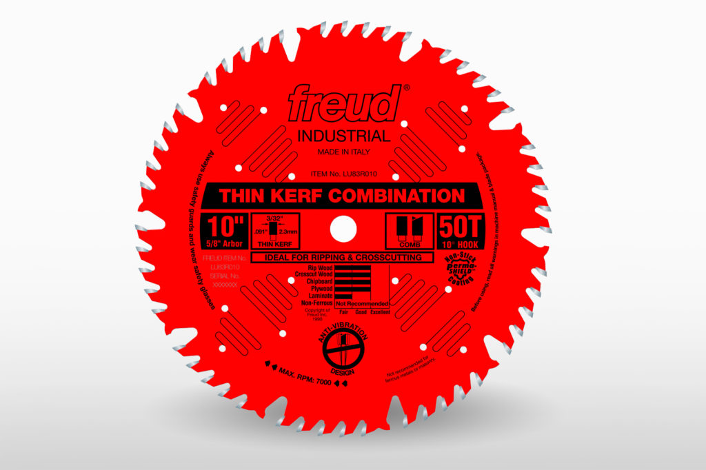 """Freud 10"""" Industrial Coated Combination Blade-Thin Kerf"""