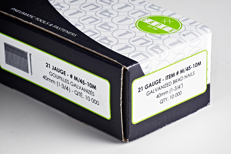 252526 #M40 10M Cadex21GaugeBrad 1 3 4 464 New