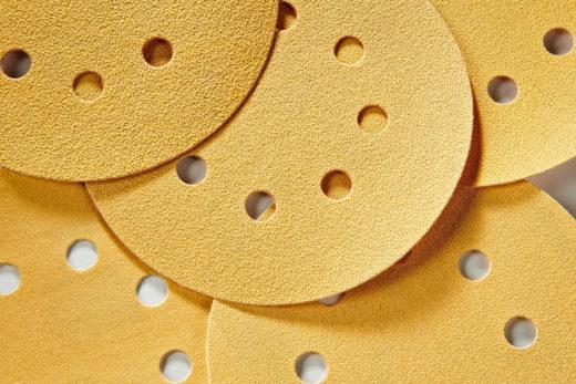 """Mirka Gold 5"""" Sandpaper Discs, Assortment Sandpaper Pack, Hook & Loop 01"""