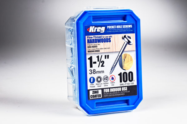 "Kreg #7 x 1-1/2"" Fine Pocket-Hole Screw 01"