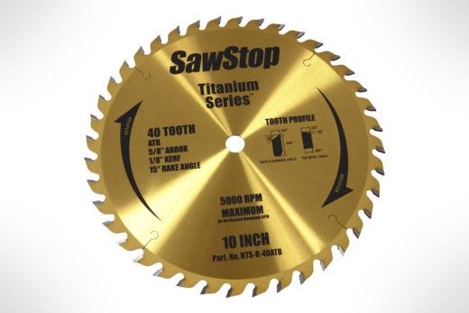 SawStop-BTS-R-40ATB 40T Titanium Series Premium Woodworking Blade