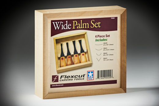 Flexcut Wide-Format Palm Set FR404-4