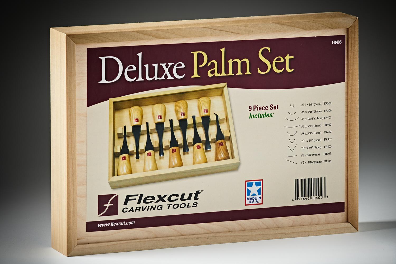 359167 #FR405 Flexcut9pcDeluxePalmSet 3774