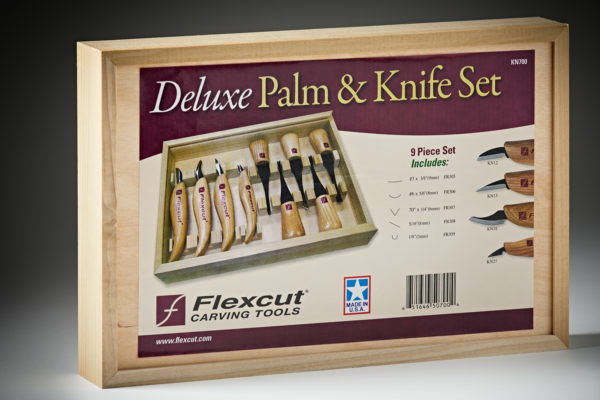 Flexcut Deluxe Palm & Knife Set #KN700-5