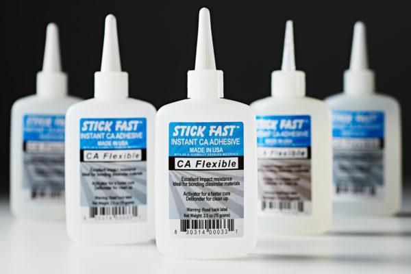 Stick Fast CA Flexible Adhesive Glue Clear 2oz 033-1