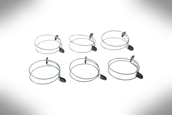 4 Double Loop Squeeze Hose Clamp 6 pack D4569-2