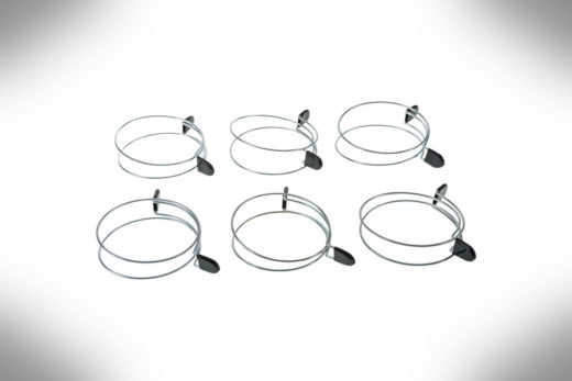 2.5 Double Loop Squeeze Hose Clamp 6 pack. D4567-2