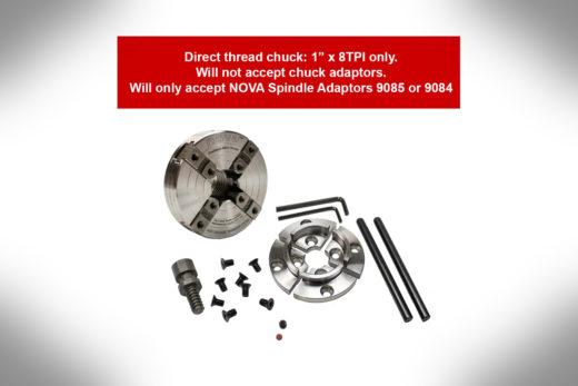 Nova Chuck Precision Midi Direct Thread 1″ X 8TPI 48111-3.