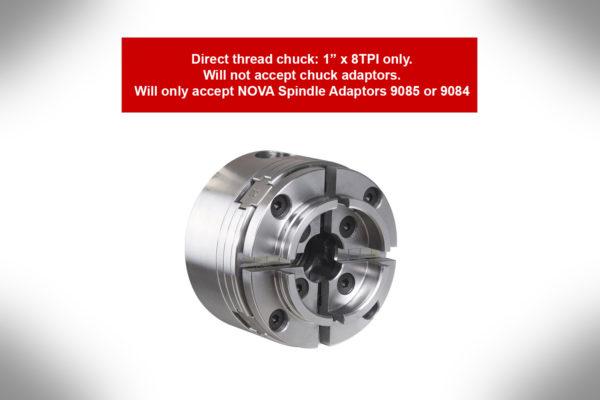 Nova G3 Direct Thread (Non-Insert) Chuck 1″X 8tpi Reversible 48232-2