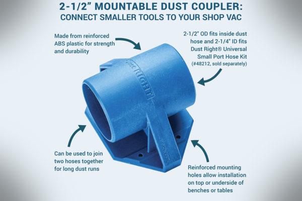 Dust Right 2-12 Mountable Dust Coupler 54955-1