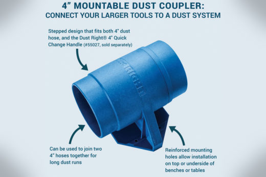 Dust Right 4 Mountable Dust Coupler 58448-1