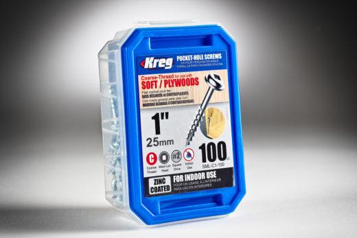 Kreg #7 x 1 Pocket Hole Screws, Coarse-Thread, 100 ct. SPS-C1-2