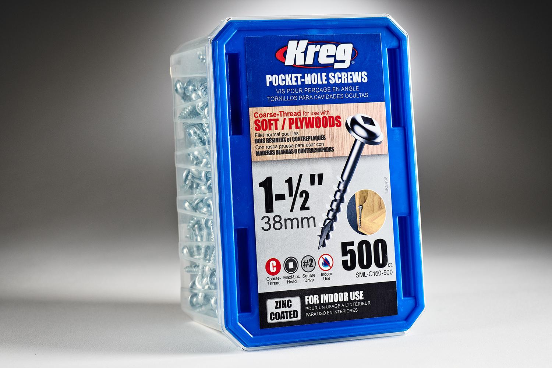 415543 #SML C150 500 KregCourseScrews 500ct 8×1&1 2in 6211