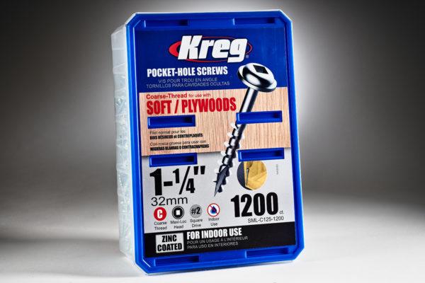 Kreg #8 x 1-14 Pocket Hole Screws, Coarse-Thread, 1200 ct. SML-C125-1200-2