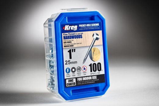 Kreg #6 x 1 Pocket Hole Screws, Fine-Thread, 100 ct. SPS-F1-100-2.