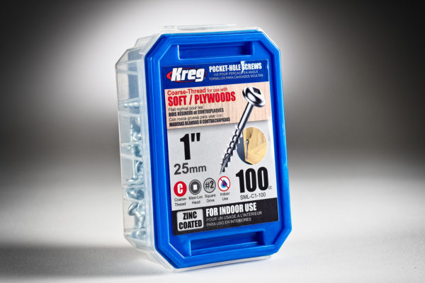 Kreg #8 x 1 Pocket Hole Screws, Coarse-Thread, 100 ct. SML-C1-100-2