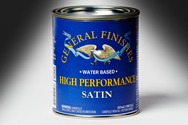 General Finishes Satin High Performance Polyurethane Water Based Topcoat