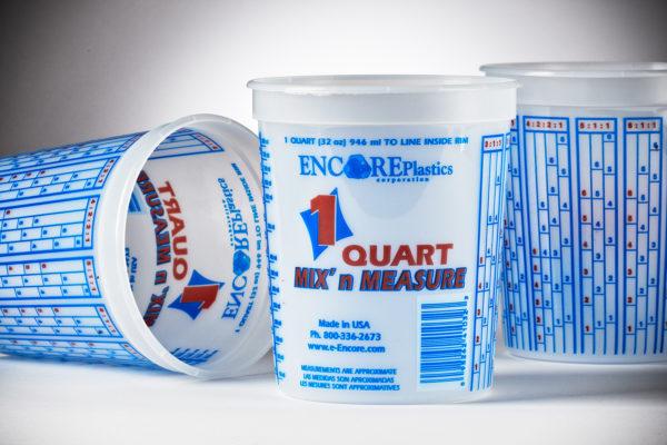 Encore Mix 'N Measure Solvent Resistant Container 1qt #LT41032