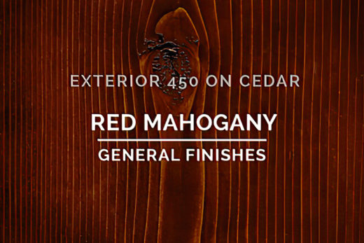 General Finishes Exterior 450 Stain Red Mahogany Water Based