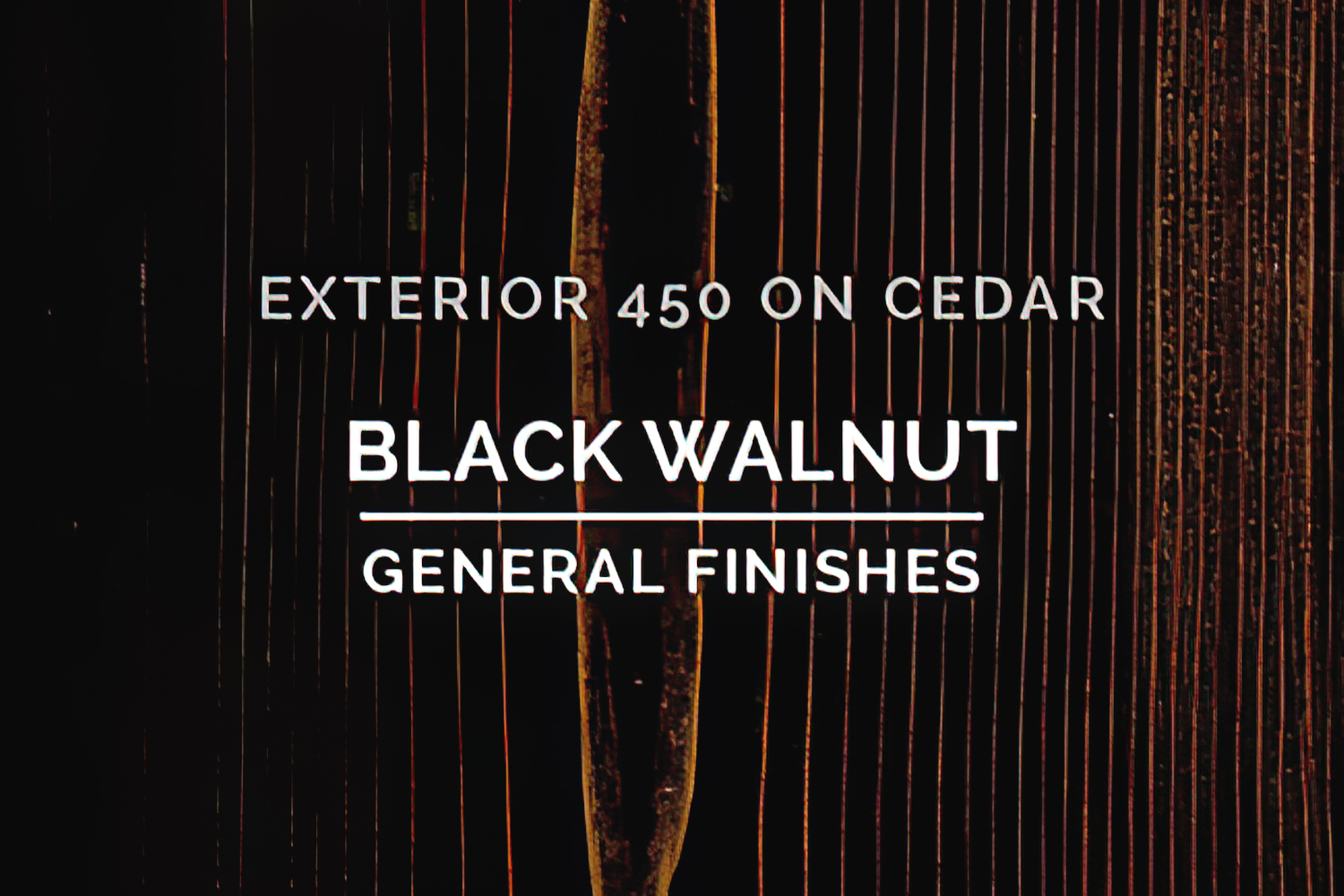 General Finishes Exterior 450 Stain Black Walnut Water Based Quart