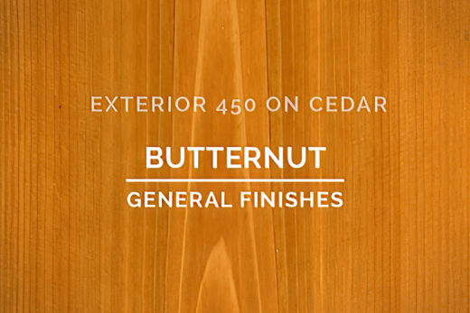 General Finishes Exterior 450 Stain Butternut Water Based