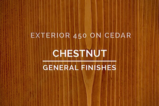 General Finishes Exterior 450 Stain Chestnut Water Based