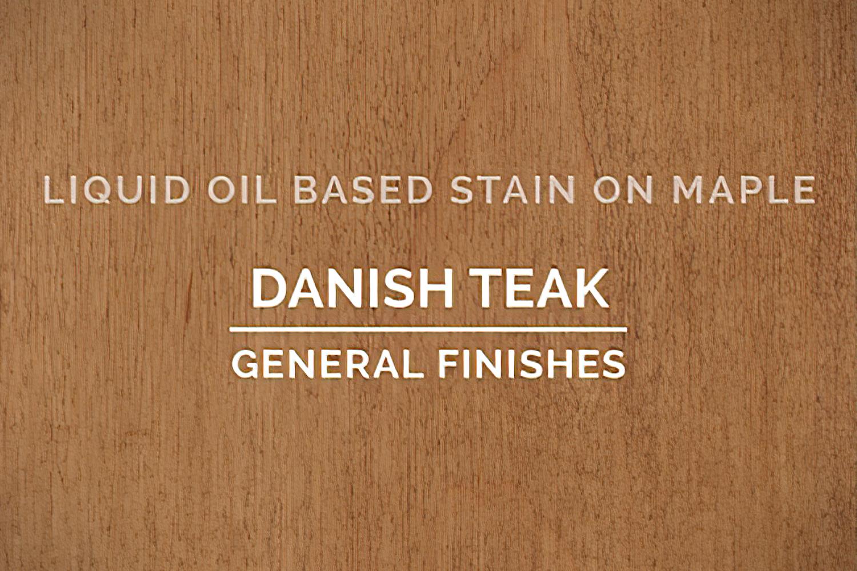 General Finishes Danish Teak Oil Based Penetrating Wood Stain Quart