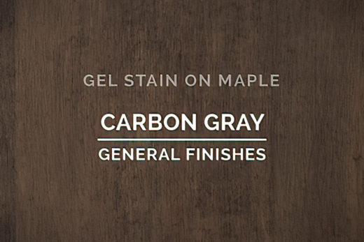 519102 General Finishes Gel Stain Carbon Gray Oil Based Quart