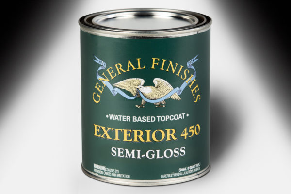 General Finishes Exterior 450 Topcoat Semi-Gloss Water Based Quart