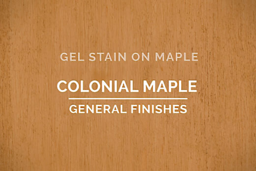General Finishes Colonial Maple Gel Stain Oil Based