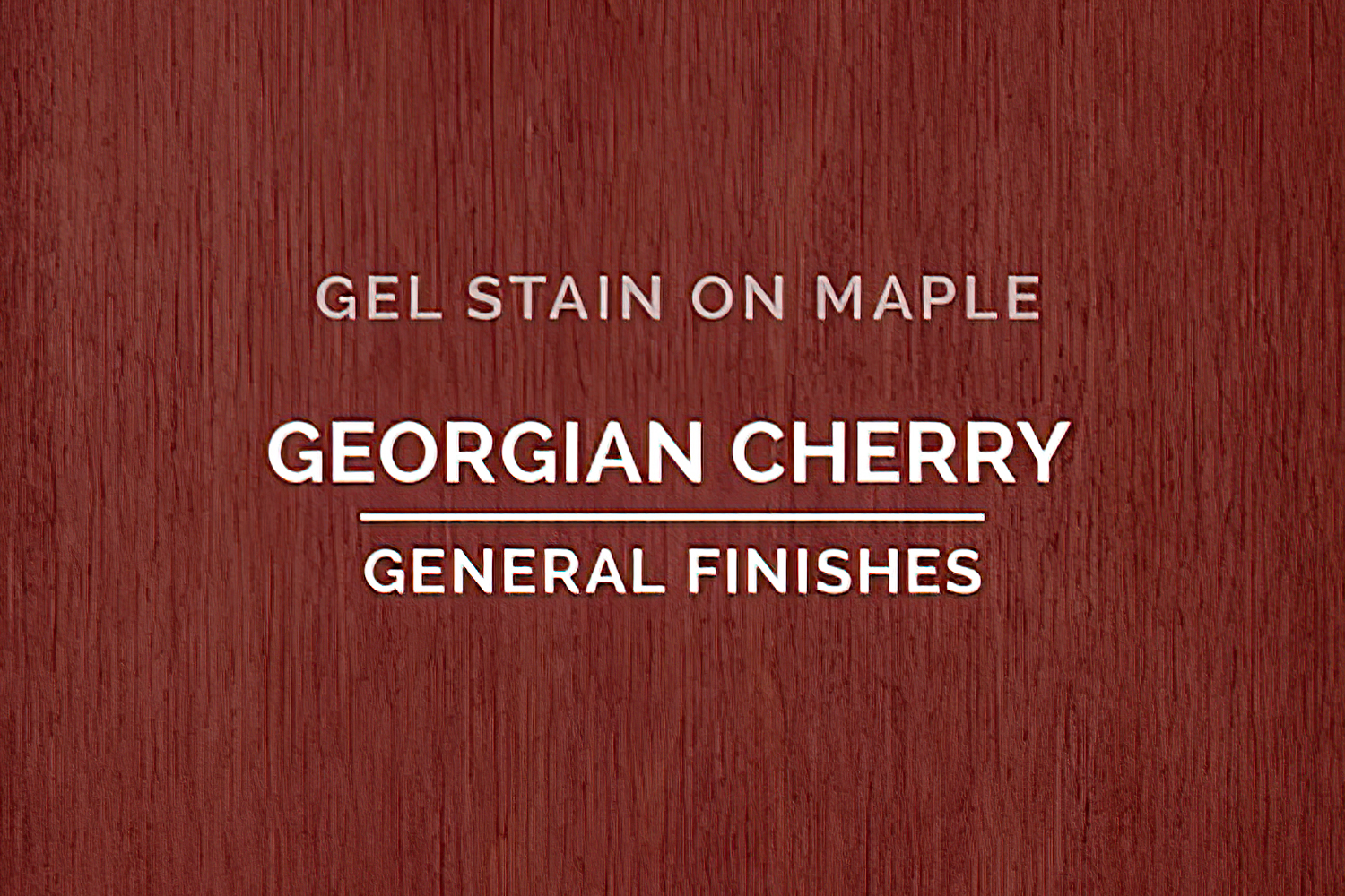 Color Chip Gel Stain Georgian Cherry On Maple General Finishes Copy