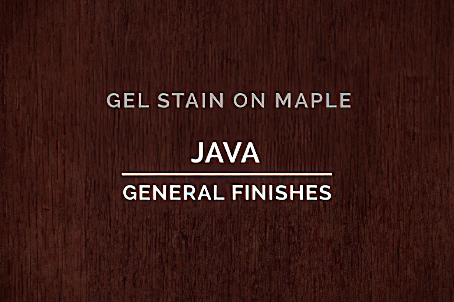 General Finishes Java Gel Stain Oil Based