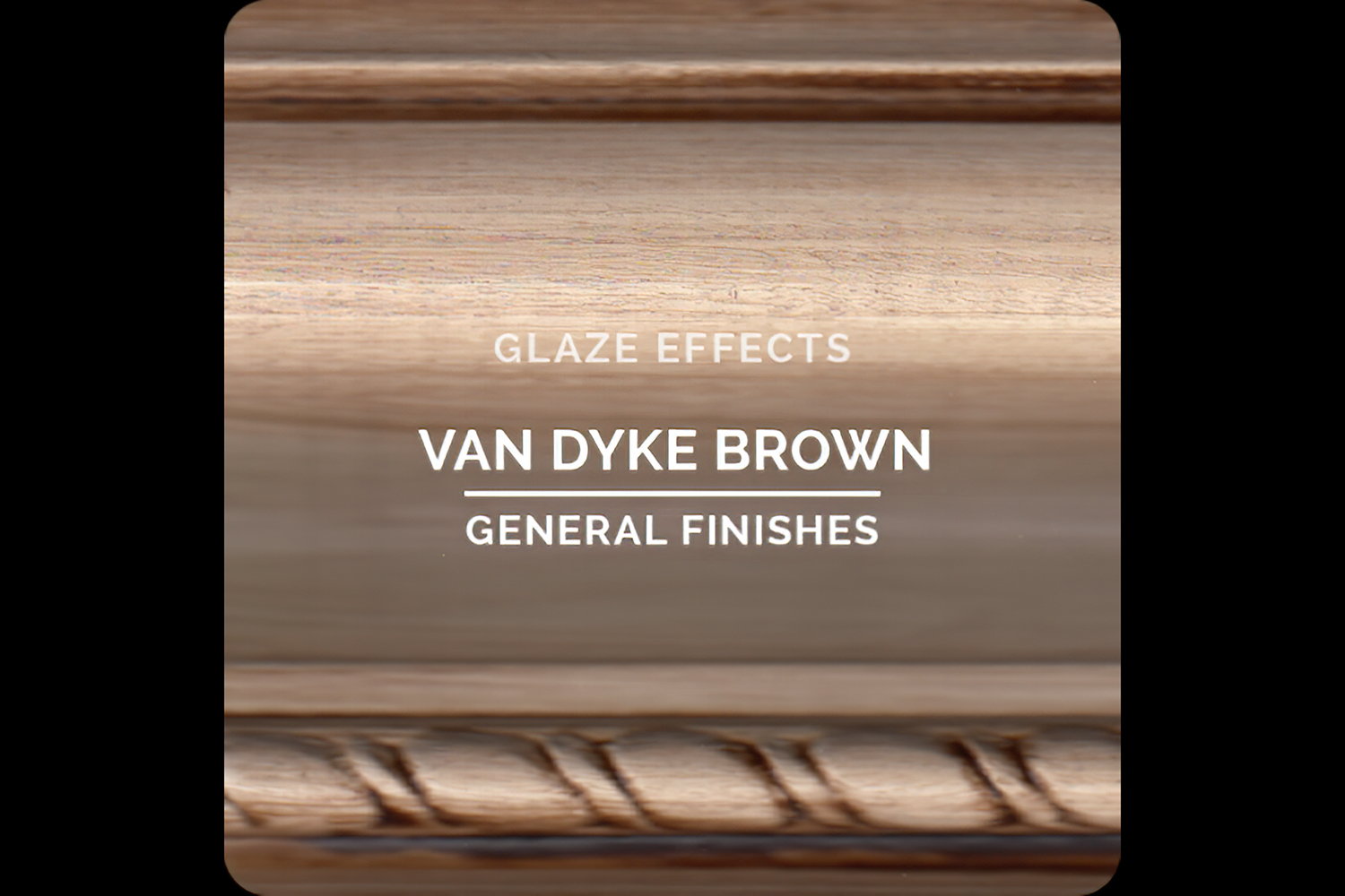Color Chip Glaze Effects Van Dyke Brown General Finishes Copy