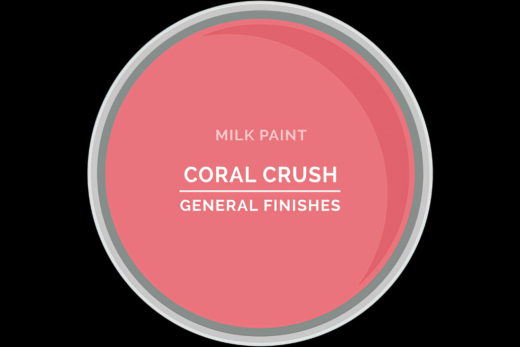 General Finishes Milk Paint Coral Crush Water