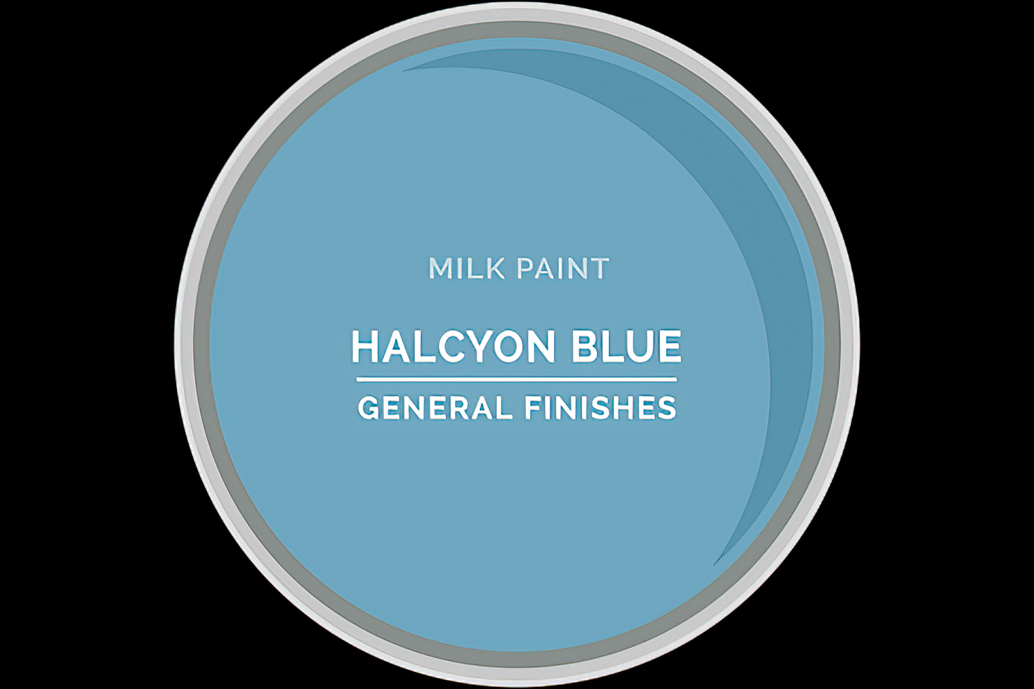 General Finishes Milk Paint Halcyon Blue Water Based